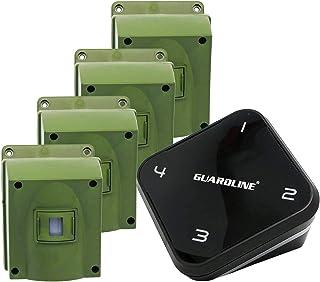 1/4 Mile Long Range Wireless Driveway Alarm w/Four Sensors Kit Outdoor Weatherproof Motion Sensor/Detector- Best DIY Secur...