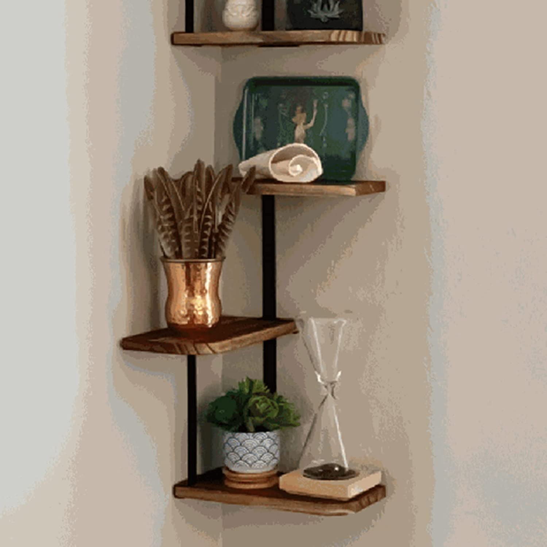 Tmtop Wall Sacramento Mall Mounted Shelf Year-end gift Corner Storage Shelves Livingroom