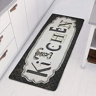 HEBE Runner Rug for Kitchen Floor Entrance Way Non Slip Natural Rubber Waterproof Kitchen Rug Floor Mat Inside Doormat Ant...