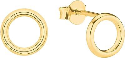 s.Oliver, orecchini da donna, in argento 925 placcato oro | Circle