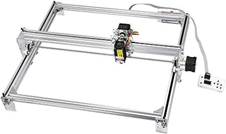 TOPQSC 7000MW CNC Máquina de Grabado Láser Kit, Grabador Láser de Escritorio 12V USB Carver, Area de Grabado 60X50 CM, Impresora Láser de Potencia Ajustable, para Cuero, Plástico, Madera