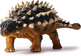 Kolobok Dinosaur Toys Park - Ankylosaurus - Jurassic Action Figures Herbivore - Dino World Model - Black Yellow