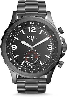 Fossil Hybrid Smartwatch - Nate Smoke con cinturino in acciaio inossidabile per uomo Colore: grigio Modello: FTW1160
