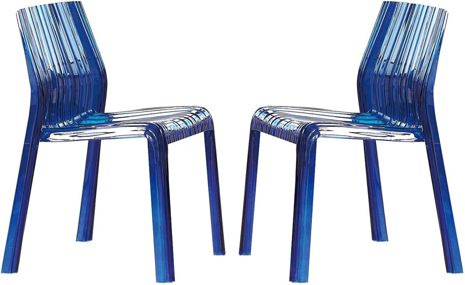 Wave Dining Chair, Transparent Red (Transparent bluee)