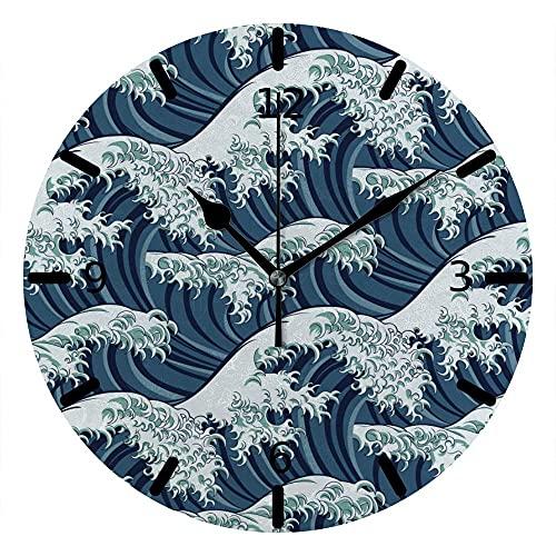 Reloj de Pared Tablero de mar Marea Marea oleada de Onda PVC Tablero de Espuma de Espuma Creativa Decoración de la Oficina en casa Dormitorio
