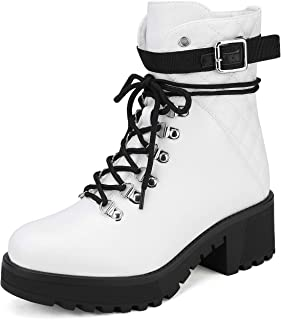 Best white lace up boots Reviews