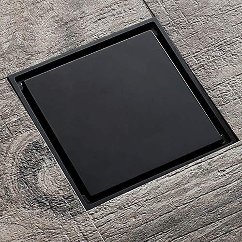 Kirok Kupfer bodenablauf, Quadratisches Badezimmer Boden Abfluss Filter mit doppeltem Verwendungszweck Dusche entfernbare Abdeckung Messing Zusätze für Badezimmer Dusche Raum