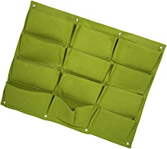 YARNOW Hanging Planter Bags| Wall Mounted Grow Bags, 1 Pack 12 Pocket Vertical Garden Wall Planter for Yards, Apartments, ...
