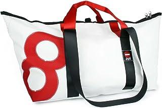 360° Grad Segeltuchtasche Schlepper XL weiß mit Zahl rot