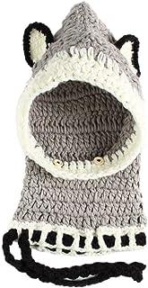 SHXLYN Kids Winter Crochet Knitted Hat Wrap Cartoon Animal Earflap Hood Scarf Skull Cap Hats & Caps