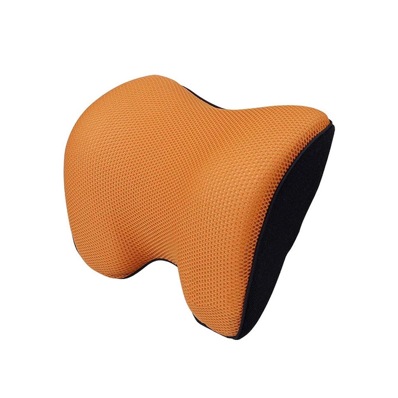 去る側誤って車の首のサポートピロー、記憶泡および首の救助および頚部サポートのための人間工学的のヘッドレスト、子供および大人のために適した,Orange