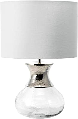 """nuLOOM Cortez 19"""" Glass Table Lamp"""