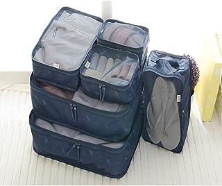 Bolsa de Almacenamiento de Viaje de 6 Piezas Ropa Ropa Bolsa de Viaje Acabado Bolsa de Viaje Traje Impermeable Armada