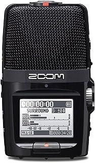 ZOOM ズーム USBマイク MSステレオマイク XYステレオマイク搭載 リニアPCM/ICハンディレコーダー Skype対応 ブラック フィールドレコーディング【メーカー3年延長保証付】 H2n