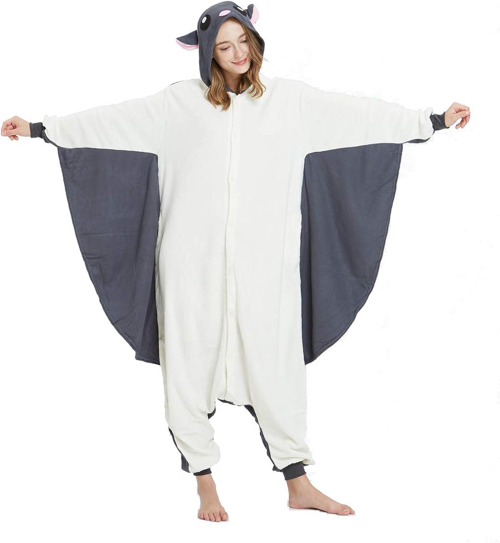 Zinuods Cheap bargain Max 83% OFF Women Men Adult Pajamas Onesies Flying C Animal Squirrel