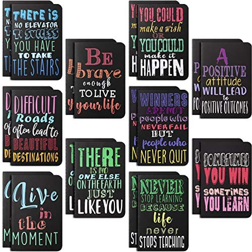 20 Pieces Inspirational Notepads Mini Motivational Journal Notebook Small Pocket Notepads for product image