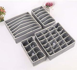 Organisateurs de tiroirs pour sous-vêtements,Boîtes de Rangement Pliable pour sous vêtements,pour Chaussettes,Soutiens-Gor...