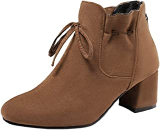 HarryHyar Dames Tacco A Blocco Booties Ankle High