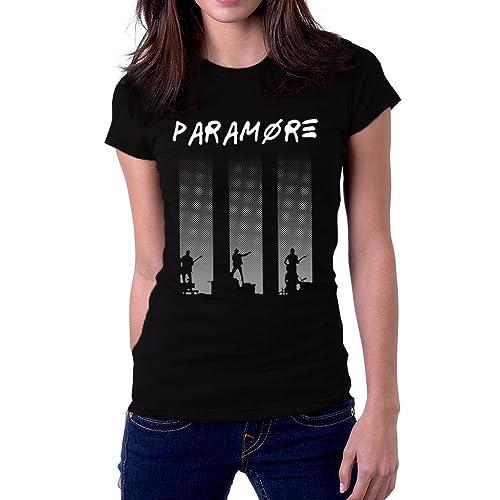 4508635962 Paramore Rock Punk Emo Butterfly Band Logo Women's T-Shirt