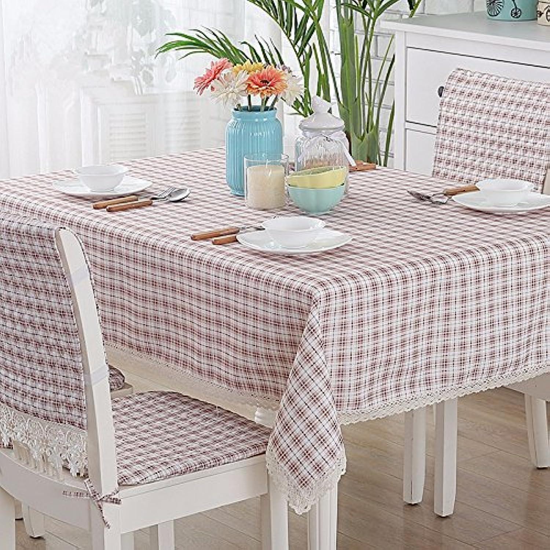 JinYiDian'Shop-Baumwolle wasserdicht Tischdecke, Tischdecke, l- und Anti-Brett rechteckig Square Round Table, Single, 140 g