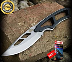 10 x 6 7/8'' TACTICAL COMBAT MINI NECKLACE SHARP KNIFE Boot Pocket Blade Wholesale Lot Combat Tactical Knife + eBOOK by Moon Knives