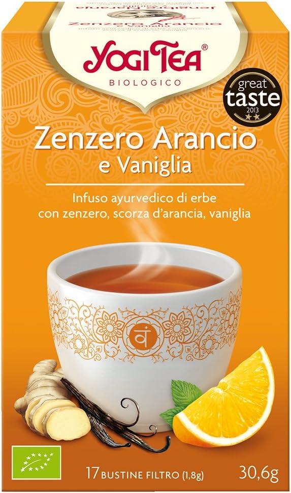 Yogi Tea - Infusión Ayurvédica de Hierbas con Jengibre, Cáscara de Naranja y Vainilla - 17 Bolsitas, 30,6g