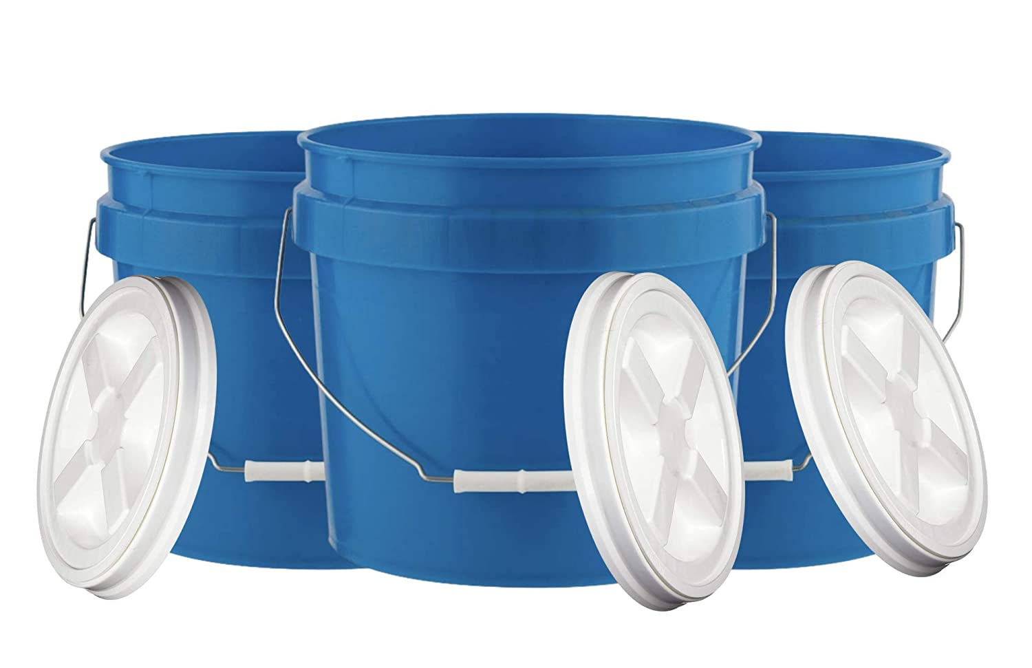 House outlet Naturals 3.5 Gallon Food Grade Max 48% OFF with Pail Gamma Bucket Scre