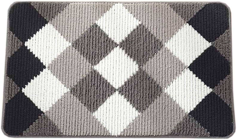 Carpet Door mat,Rug Floor mat Kitchen Rug Geometric Pattern Non Slip Door mat Area Rug-offwhite 45x70cm(18x28inch)