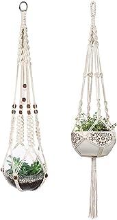 Toruiwa 2/x Sospensione Pianta macram/è Vaso sospeso in Corda Cotone per Vaso Decorazione da Giardino Balcone casa in Corda