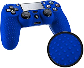 Playstation 4 STUDDED Controller Skin by Foamy Lizard ® ParticleGrip Premium Protective Anti-slip Silicone Grip Case Cover...