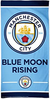 McArthur Manchester City Premium Beach Towel Blue Moon Rising 30 X 60 Inches with Spectra graphics