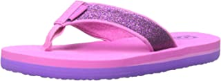 Teva Mush II Fashion Flip Flop Sandal (Toddler/Little Kid/Big Kid), Fuchsia Sparkle-T, 7 M US Big Kid