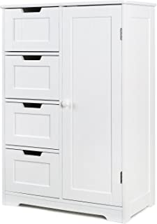 HOMFA Bathroom Floor Cabinet, Wooden Side Storage...