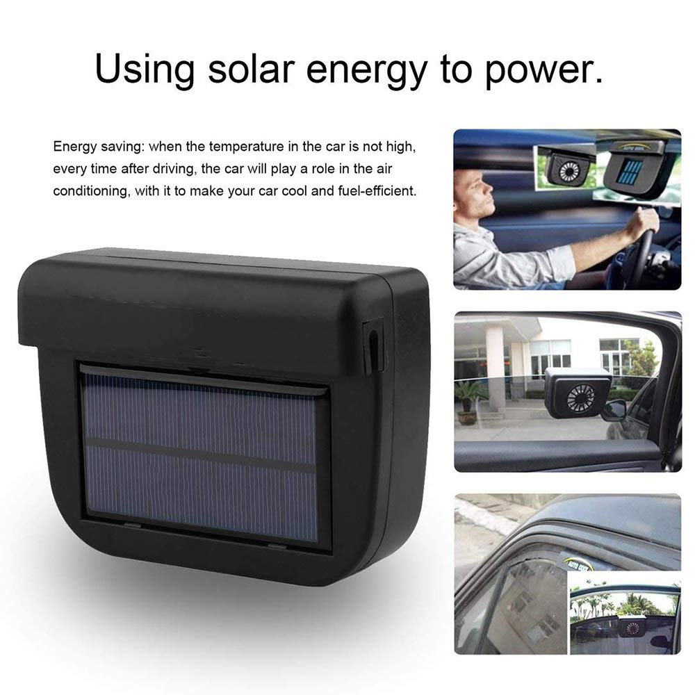 Ventilador solar para coche, Winnes Solar Poder Auto Ventana ...