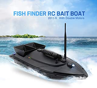 GONGting Fish Finder 1.5kg Loading 500m Remote Control Fishing Bait Boat RC Boat,Electronic Remote Control,500m Signal,for Kids or Adults, Remote Control Fishing Bait Boat