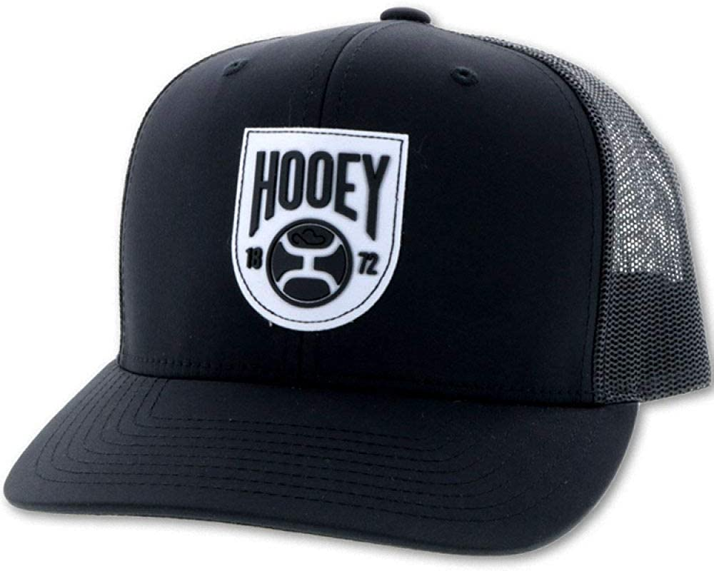 HOOEY Crest 6-Panel Adjustable Trucker Hat Black ! Super beauty product restock quality top! Logo Patch Latest item with