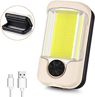 Neoteck Lampada da Lavoro Ricaricabile a LED Torcia COB Officina da Lavoro Lampada Luce Luci di Ispezione a Mano Lampada Mini Lampada Flessibile con 80CM USB a Micro Cavo USB Arancione