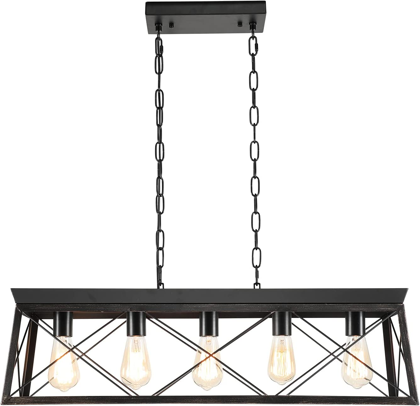 LABOREDUCER Farmhouse Max 48% Free Shipping Cheap Bargain Gift OFF Kitchen Island 5-Light Industrial Lighting