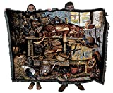 Remington The Horticulturist - Charles Wysocki - Cotton Woven Blanket Throw - Made in The USA (72x54)