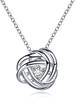 Best silver love knot necklace Reviews