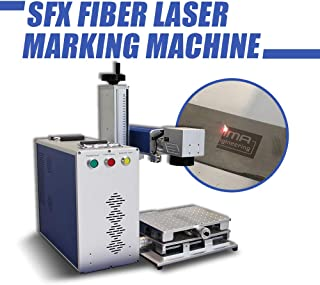 Fiber Laser Engraver Machine 50W,Laser Marking Machine 175175mm with Rotary Axis 80mm Chuck