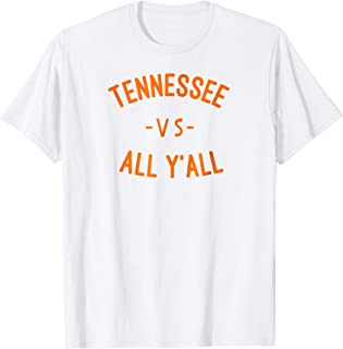 Tennessee Football vs All Yall Knoxville Southern T Shirt