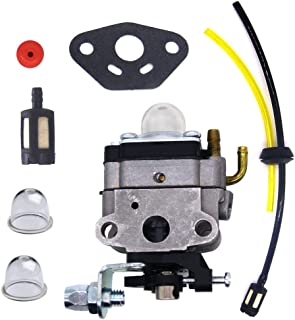 FitBest Carburetor with Fuel Line Kit for Troy-Bilt TB146EC TB590BC TB26TB TB475SS TB575SS TB525CS Gas Trimmer Carb