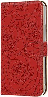 手帳型 カードタイプ スマホケース LG V20 PRO L-01J 用 [型押し風・赤いバラ] 花柄 ローズ エルジー ブイトゥエンティ プロ docomo スマホカバー 携帯ケース スタンド bara 00r_170@02c