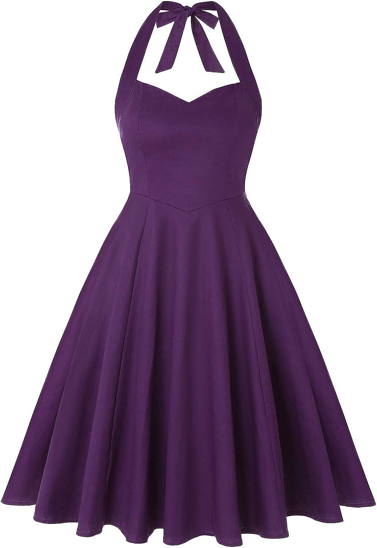 MINTLIMIT 1950s excellence Rockabilly In stock Vintage Halter Dress 50's