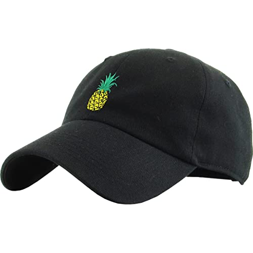 61bf4aa8 KBETHOS Pineapple Dad Hat Baseball Cap Polo Style Unconstructed
