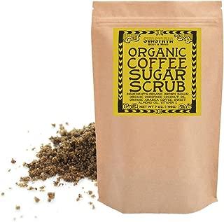 Svasthya Organic Coffee Sugar Scrub for Face & Body 100% All Natural Deep Cleansing & Exfoliating for Tone, Radiant Skin, 7.0 oz