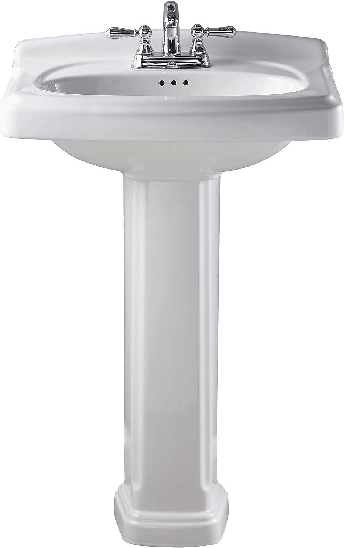 Buy American Standard 0555 401 020 Townsend Pedestal Bathroom Sink With 4 Inch Faucet Spacing White Online In Turkey B0015bj6nk