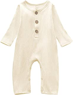Baby Girls Boys Sleeveless Linen Jumpsuit, Casual Buttons Romper, Playsuit for Infant Toddler