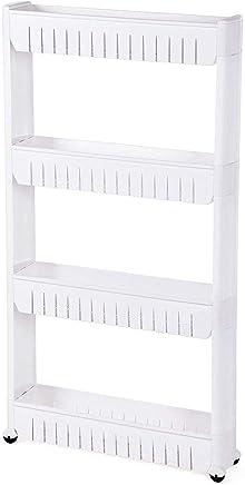 Organizer for kitchen and Bathroom 4 shelves, white
